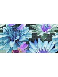 Mosaico blanco Flor 1