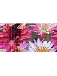 Mosaico Crema Flor 1