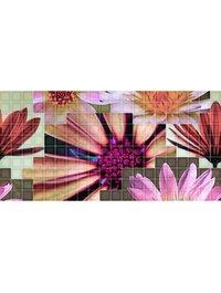 Mosaico Crema Flor 2