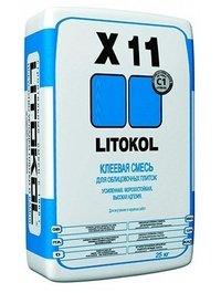 клей LITOKOL Усиленная клеевая смесь для керамической плитки LITOKOL Х11 (ЛИТОКОЛ Х 11), 25 кг